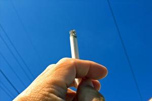 サンルームの喫煙所