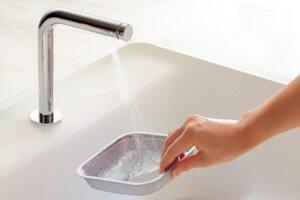 4.TOTOザ・クラッソの排水口は衛生的でお手入れが楽ちんなんです!
