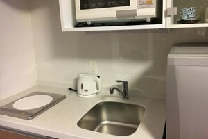 ミニキッチン等の水まわり設備をお子さん世帯専用の物を用意する