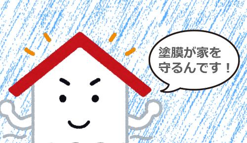 塗膜が丈夫な家